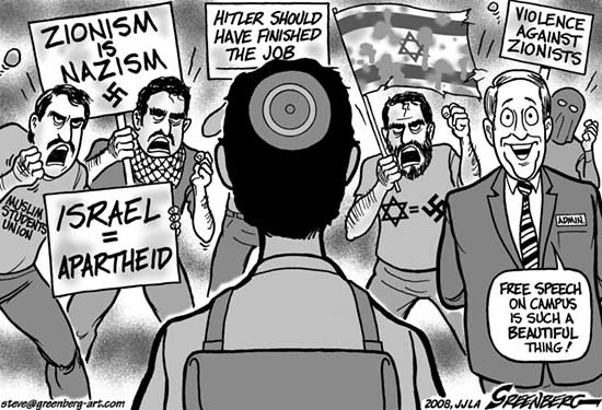 Image result for ZIONIST Free Speech CARTOON